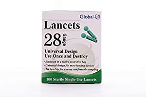 EZ Smart Blood Glucose Lancets Sterile Lancets, 100-count packages (pack of 5)