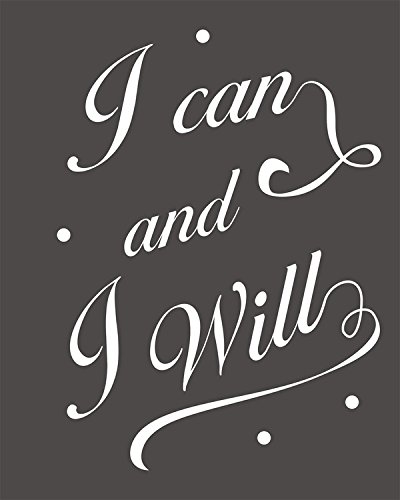 I Can And I Will Wood Sign By meijiafei