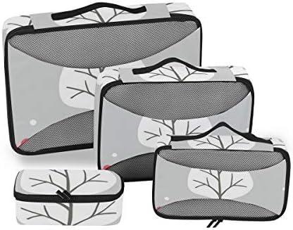 トラベル ポーチ 旅行用 収納ケース 4点セット トラベルポーチセット アレンジケース スーツケース整理 かわいい ペンギン 収納ポーチ 大容量 軽量 衣類 トイレタリーバッグ インナーバッグ