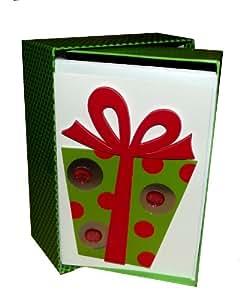 3D Gift Box Handmade Holiday Boxed Card-Set of 10