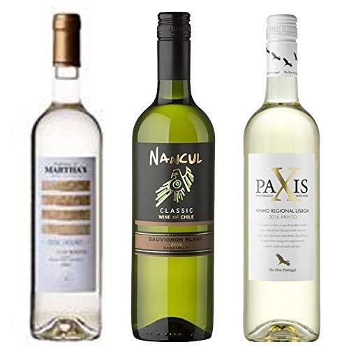 Kit de Vinhos Branco contendo 3 Rótulos