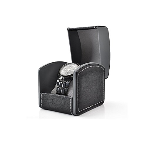 UPC 606462150057, HUNGER PU Leather Single Bracelet Bangle Jewelry Watch Gift Box (Black)