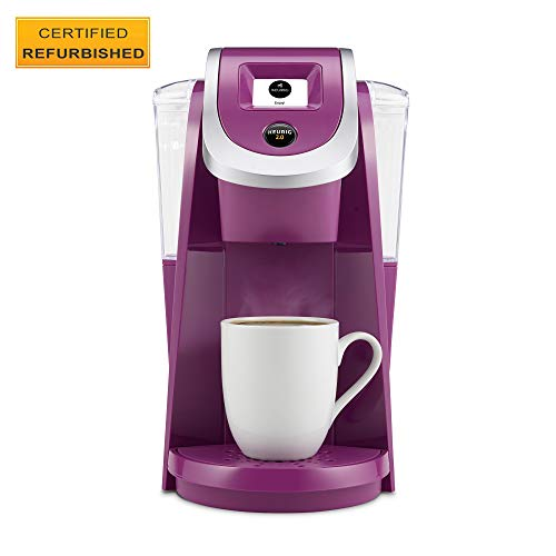 Keurig K200 Certified Refurbished Coffee Maker, Single Serve K-Cup Pod Coffee Brewer, With Strength Control, Violet