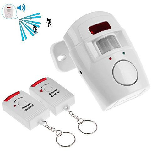 Aweek® Independent Wireless Home Security Alarm Remote Controlled Anti-theft Intruder Alarm IR Infrared Motion Sensor Alarm Detector + 2 Remote Controllers