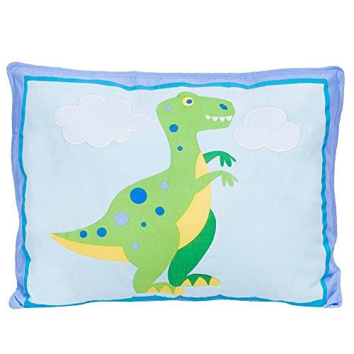 - Wildkin Pillow Sham, 100% Cotton Pillow Sham, Bold Patterns Coordinate with Other Bedding and Room Décor, Olive Kids Design - Dinosaur Land