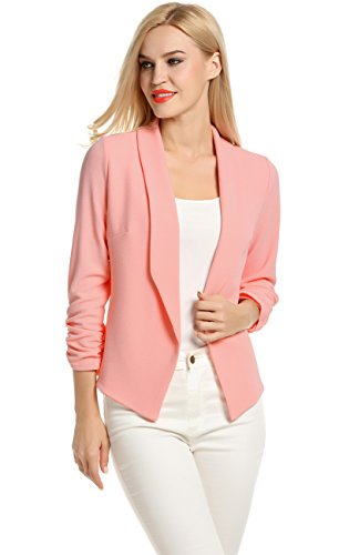 (Women Classic Slim Petite Jacket Blazer (L,)