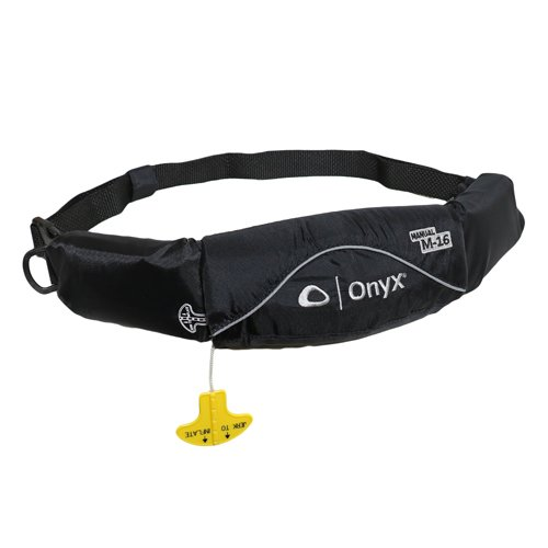 Onyx Belt Pack Manual Inflatable Life Jacket (PFD) for Stand Up Paddelboarding,Kayaking, and Fishing (SUP)