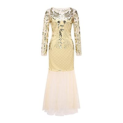 Womens Long Formal Dress Vintage 20's Gatsby Dress Flapper Evening Dresses