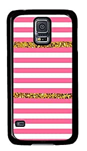 Samsung S5 waterproof covers Chevron Pink PC Black Custom Samsung Galaxy S5 Case Cover