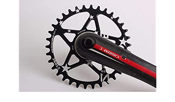 1dacffb87d4 Color: Circle 34T Black Xennos Chainring for Specialized S-Works Direct  Mount BB30 Single Speed Narrow Wide ...