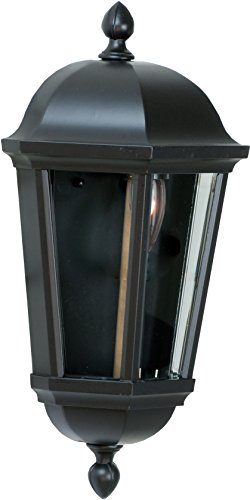 Craftmade Z3012-92 Wall Lantern with Beveled Glass Shades, Black Finish