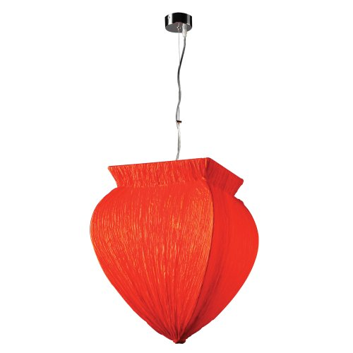 PLC Lighting 73034 RED Pendant from Bombay Collection -