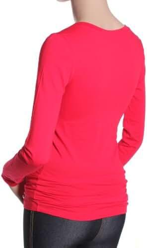 Active Basic Women's Basic Long Sleeve V-Neck Tee