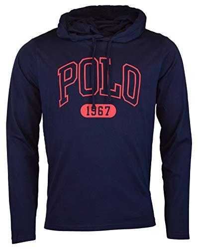 Polo Ralph Lauren Men's Long Sleeve Graphic Jersey Hoodie - L - Navy