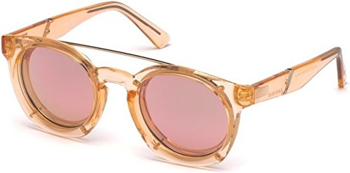 Diesel Designer Sunglasses - Sunglasses Diesel DL 0251 72Z shiny pink / gradient or mirror violet
