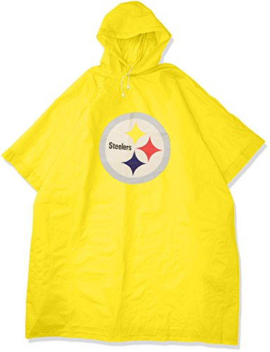The Northwest Company Officially Licensed NFL Pittsburgh Steelers Deluxe Poncho