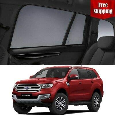 Magnetic Car Window Shades for Ford Everest 2015-2018 UA Car Rear Magnetic Sun Blind Shade Baby Kid Protection by Magnetic Shades