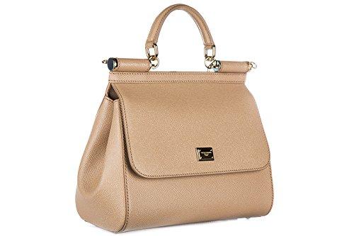Dolce&Gabbana sac à main femme en cuir sicily beige