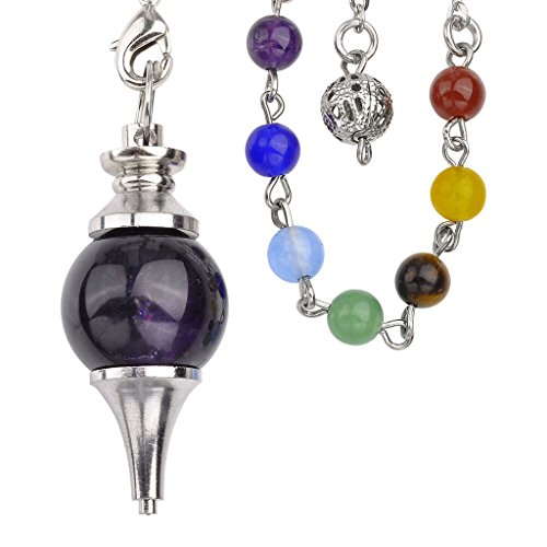 Beautiful Amethyst Pendulum Bracelet Combination
