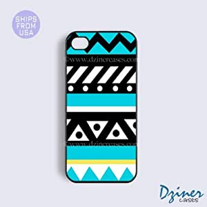 iPhone 6 Plus Tough Case - 5.5 inch model - Turquoise Cute Aztec iPhone Cover wangjiang maoyi