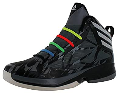 Adidas Crazy Fast Men's Hightop Basketball Shoes Sneakers Black Sz 10