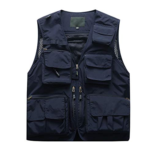 Mens Summer Vests Supper Lightweight,Tronet Men Photography Outdoors Mesh Multi-Pocket Sleeveless Jackets Vest Waistcoat