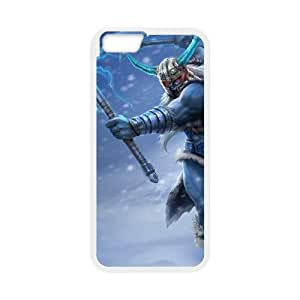 iPhone 6 Plus 5.5 Inch Cell Phone Case White League of Legends Glacial Olaf OIW0419789