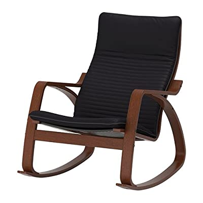 ikea poang rocking chair medium brown with cushion kitchen dining. Black Bedroom Furniture Sets. Home Design Ideas