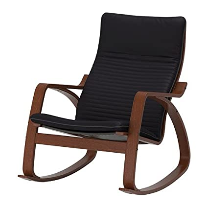 Amazoncom Ikea Poang Rocking Chair Medium Brown With Cushion