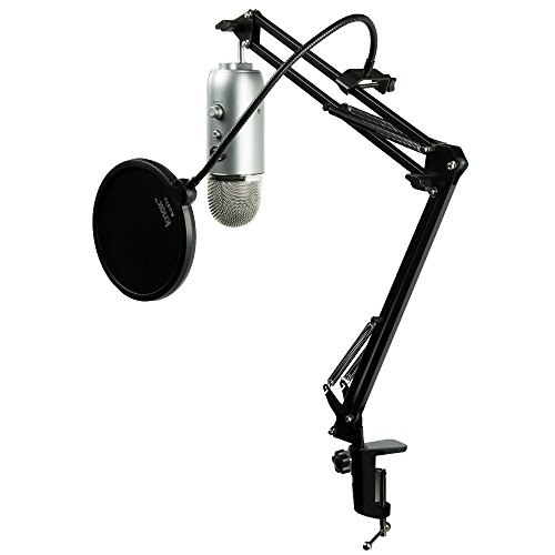 Blue Microphones Yeti USB Microphone w/ Knox Desktop Arm Stand and Pop Filter by Blue Microphones