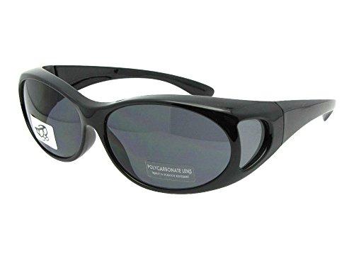 Small Non Polarized Sunglasses Over Glasses (Black Frame, Gray - Prescription Polarized Non Sunglasses