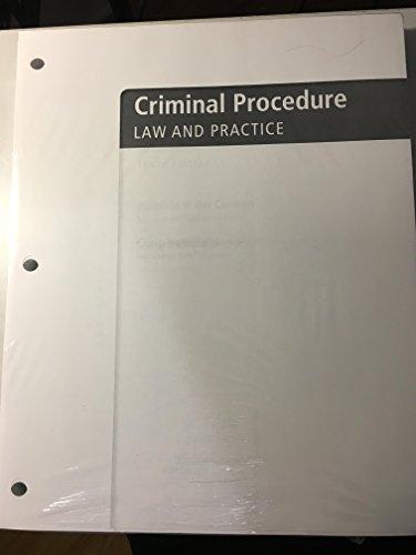 Criminal Procedure: Law And Practice, Loose-leaf Version