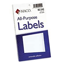 Maco - 8 Pack - Multipurpose Self-Adhesive Removable Labels 1 1/2 X 3 White 160/Pack Product Category: Labels Indexes & Stamps/Labels & Stickers by Original Equipment Manufacture