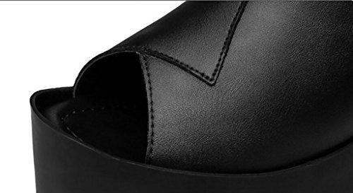 Usura Di B Sandali Pistoni 34 B Sandali Modo Piani Sandali colore Di Sandali Antisdrucciolevoli Sandali Tacco Cunei Dimensioni Alto Estate Pistoni xTnEfT4