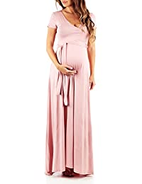 08679a034c23 Maternity Short Sleeve Dress with Belt - Made in USA