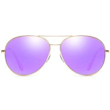 Nuevas Gafas de Sol de Metal clásicas Montura Dorada Púrpura ...