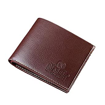 Naijie Coffee Polyurethane For Men - Clip Wallet