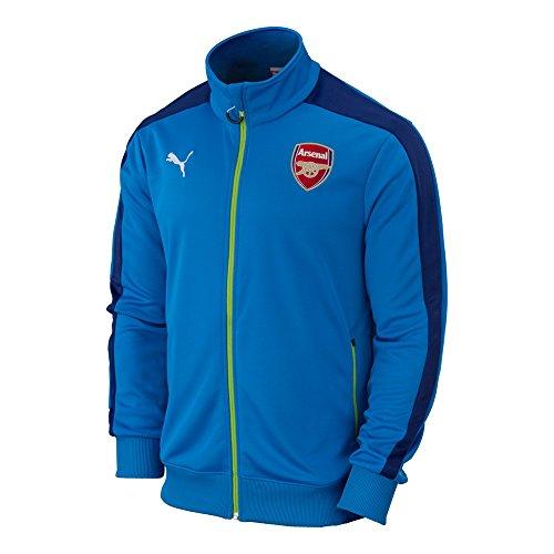 Puma AFC Arsenal T7 Anthem Jacket Methyl Blue/Estate Blue/Lime Men's Size S