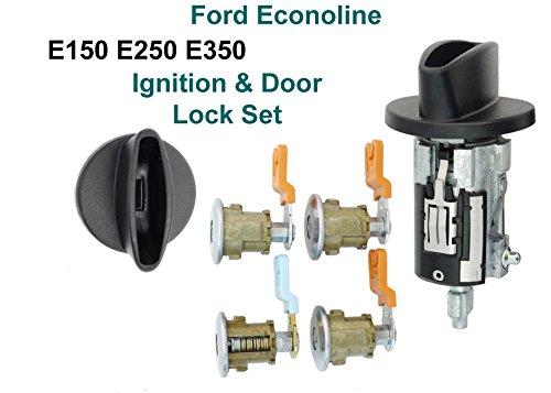 Ford Econoline Van - E150 E250 E350 Ignition Cylinder & 4 Door Lock Set & (Set 4 Cylinder)