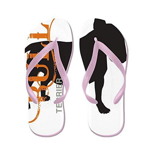Cafepress Grungesilhouette Slippers - Flip Flops, Grappige String Sandalen, Strand Sandalen Roze