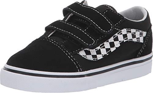 Vans Kid Shoes Old Skool V (Two Tone) (9 M US Toddler, (Side Stripe V) Black/True White) -