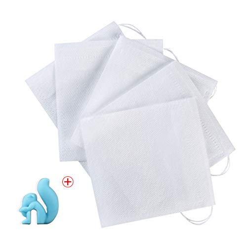 300Pcs Drawstring Tea Filter Bags with 1 Cup Clip, Safe & Natural Material, Disposable Empty Tea Infuser Bag for coffee and Loose Leaf Tea, 1-cup capacity (2.75×3.5in, -