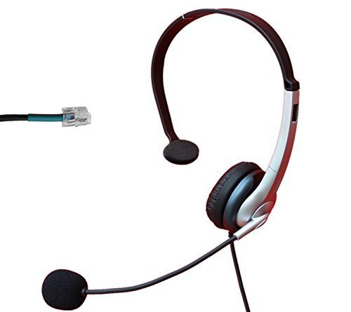 Price comparison product image Voistek Call Center Telephone Headset with Noise Canceling Microphone for Nortel Nec Mitel Aastra Siemens GE 3Com Toshiba InterTel Sprint Talkswitch ShoreTel Iwatsu Packet8 ESI Allworx Office IP Phones (Monaural A2K10)