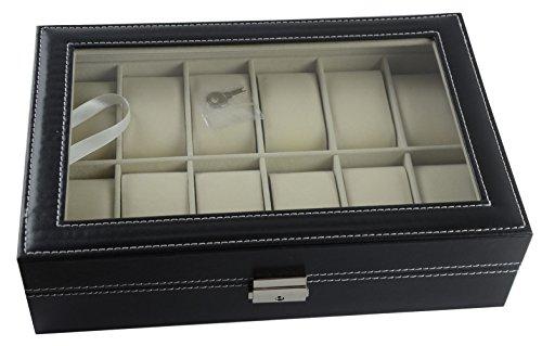 Songmics scatola porta orologi custodia per 20 orologi - Scatola porta orologi carpisa ...