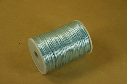 2.5mm Rattail Cord Chinese Knot Rat-tail Jewelry Making Braid 100 Yards (LIGHT BLUE)