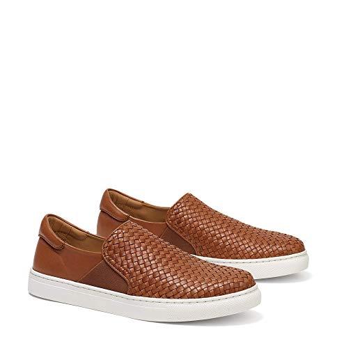 Trask Men's Ayers Woven Cognac Sheepskin 10 M US (Sheepskin Shoes Men For)