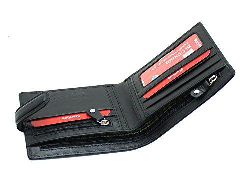 Strahide RFID Sichere Geldbörse - Kontaktlose Kartenschutz Premium Qualität Echtes Leder Brieftasche Zip Münzen Tasche Geschenk Boxed# 840
