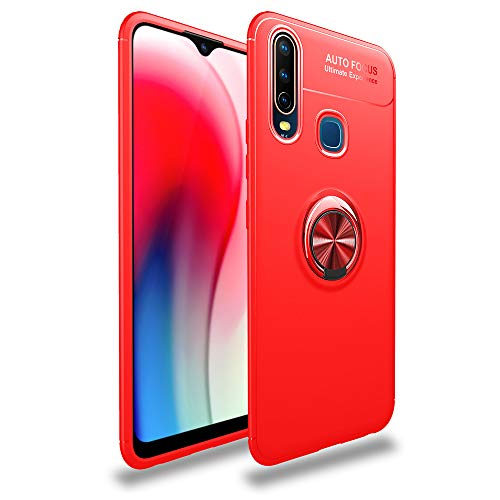 FindaGift Back Case for Vivo Y17 K3, Shock Absorption Bumper Reinforced Corner TPU Cushion Rubber Covers Slim Shockproof Case Body Protector-Red