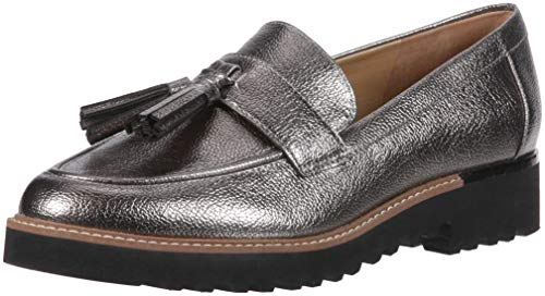 Franco Sarto Women's Carolynn Loafer Flat, Pewter, 8.5 M US