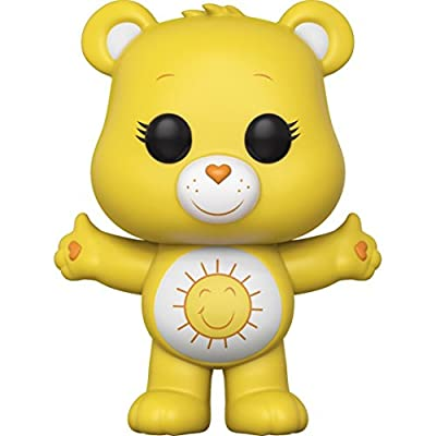 Funko Pop! Animation: Care Bears - Funshine Bear Vinyl Figure (Bundled with Pop Box Protector Case): Toys & Games
